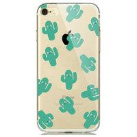 Прозрачный силиконовый чехол для iPhone 7 / 8 - Transparent Silicone Case с рисунком кактусы