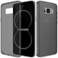 Серый прозрачный тонкий силиконовый чехол для Samsung Galaxy S8 Plus