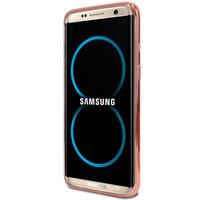 Металлический бампер для Samsung Galaxy S8 розовое золото
