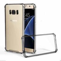 Черный прозрачный силиконовый бампер для Samsung Galaxy S8