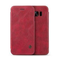 Красный кожаный чехол книга для Samsung Galaxy S8 Plus - G-Case Leather Book Case Red