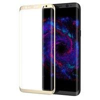 3D стекло с золотой рамкой для Samsung Galaxy S8 Plus (S8+)