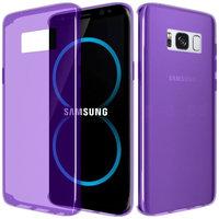 Фиолетовый прозрачный силиконовый чехол для Samsung Galaxy S8