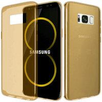 Золотой тонкий прозрачный силиконовый чехол для Samsung Galaxy S8 Plus (S8+)