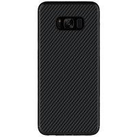 Черный силиконовый чехол имитация карбона для Samsung Galaxy S8