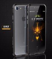 Черный алюминиевый бампер на iPhone 7 - Luphie Rapier Series Aluminium Bumper