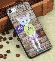 Силиконовый чехол для iPhone 7 / 8 - Co Co Cat черный