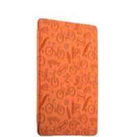 Оранжевый чехол книжка подставка Deppa Wallet Onzo для Apple iPad 2017 с тиснением