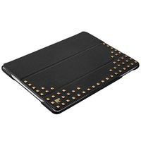Черный кожаный чехол для iPad 2017 с шипами - Jisoncase Premium Leatherette Black