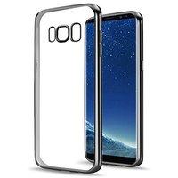 Прозрачный силиконовый чехол бампер для Samsung Galaxy S8 черная рамка