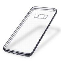 Прозрачный силиконовый чехол бампер с черной рамкой для Samsung Galaxy S8 Plus (S8+)