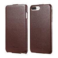 Коричневый чехол флип Fashion Case для iPhone 7 Plus / 8 Plus