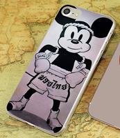 Пластиковый чехол накладка для iPhone 7 / 8 с рисунком Мики Маус - Муай тай