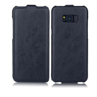 Черный кожаный чехол флип Art Case Black для Samsung Galaxy S8