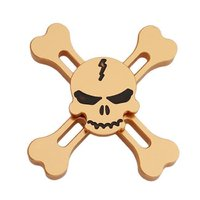 Золотистый Спиннер череп и кости - Metallic Skull Spinner Gold
