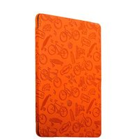 Оранжевый чехол книжка подставка для New Apple iPad 2017 9.7 с тиснением - Deppa Wallet Onzo Orange 1mm