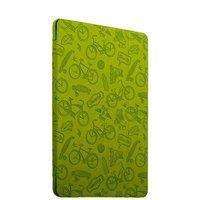 Зеленый чехол книга для Apple iPad 2017 9.7 с тиснением - Deppa Wallet Onzo Green 1mm