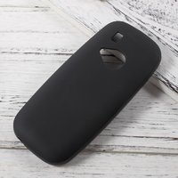 Чехол для Nokia 3310 - 2017 силиконовый черный с покрытием Soft-touch