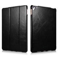 Черный кожаный чехол для iPad Pro 10.5 - i-Carer Vintage Series Genuine Leather Case Black