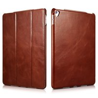 Коричневый кожаный чехол для iPad Pro 10.5 - i-Carer Vintage Series Genuine Leather Case Brown