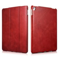 Красный кожаный чехол для iPad Pro 10.5 - i-Carer Vintage Series Genuine Leather Case Red