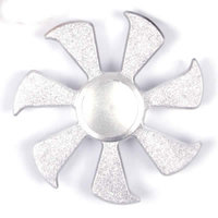 Серебряный металлический Спиннер солнце семь лучей Sun Miracle Fidget Spinner Silver