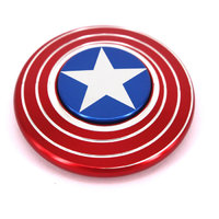 Игрушка-антистресс Спиннер Капитан Америка металлический диск быстрая скорость вращения