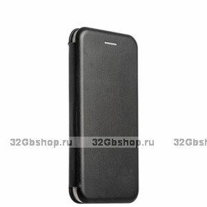 Черный кожаный чехол книга для iPhone 6s / 6 (4.7)
