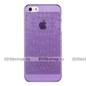 Силиконовый чехол для iPhone 5 / 5s / SE фиолетовые круги