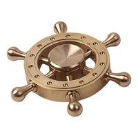 Металлический латунный Спиннер штурвал - Brass Wheel Spinner Gold