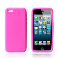 Cиликоновый чехол накладка для iPhone 5c розовый
