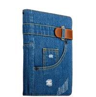Джинсовый чехол книжка iPad 2017 9.7 - XOOMZ Jeans Case Magnetic Closure and Stand Function