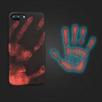 Черный силиконовый чехол накладка для iPhone 7 Plus / 8 Plus с покрытием Soft Touch - реагирует на тепло ( Physical Thermal Sensor Discoloration Soft TPU )