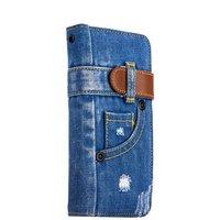 """Чехол-книжка XOOMZ для iPhone 7 Plus / 8 Plus (5.5"""") джинсовый"""