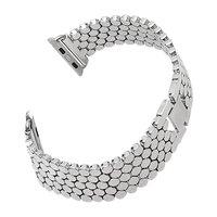 Браслет серебряный из нержавеющей стали для Apple Watch 42мм