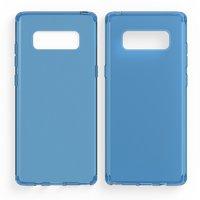 Голубой прозрачный силиконовый чехол для Samsung Galaxy Note 8