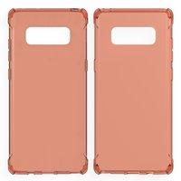 Оранжевый прозрачный силиконовый чехол для Samsung Galaxy Note 8