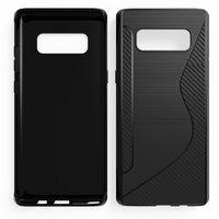 Черный силиконовый чехол для Samsung Galaxy Note 8 - S-Style Case Black
