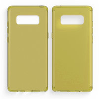 Желтый прозрачный силиконовый чехол для Samsung Galaxy Note 8