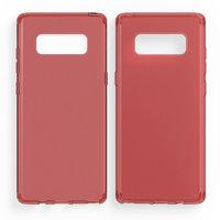 Красный прозрачный силиконовый чехол для Samsung Galaxy Note 8