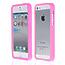 Силиконовый бампер для iPhone 5 / 5s / SE розовый