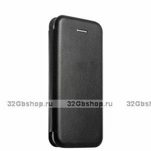 Черный кожаный чехол для iPhone 5s / SE / 5 - Art Case Book Folio Case Black