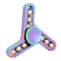 Spinner для рук Спиннер металлический с металлическими шариками цвет хамелеон