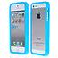 Силиконовый бампер для iPhone 5 / 5s / SE голубой