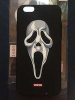 Черный пластиковый чехол для iPhone рисунок Крик - Vodex case For iPhone 6 / 6s Scream