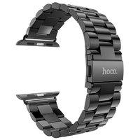 Черный браслет HOCO из нержавеющей стали для Apple Watch 38мм