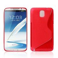 Чехол силиконовый для Samsung Galaxy Note 3 N9000 жесткий красный - S Style Case