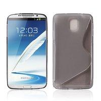 Чехол силиконовый для Samsung Galaxy Note 3 N9000 жесткий серый - S Style Case