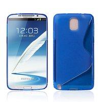 Чехол силиконовый для Samsung Galaxy Note 3 N9000 жесткий синий - S Style Case