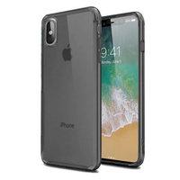 Черный прозрачный силиконовый чехол для iPhone X / Xs 10